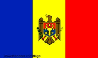ธงชาติประเทศมอลโดวา Moldova