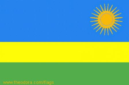 ธงชาติประเทศรวันดา Rwanda