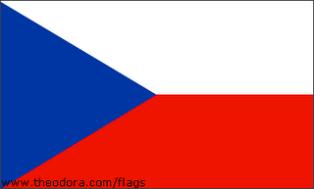 ธงชาติประเทศสาธารณรัฐเช็ก Czech Republic