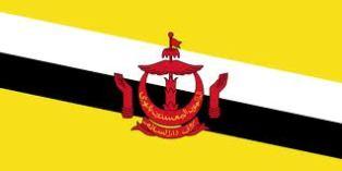ธงชาติประเทศบรูไนดารุสซาลาม Brunei Darussalam