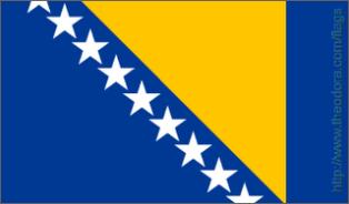 ธงชาติประเทศบอสเนียและเฮอร์เซโกวีนา Bosnia and Herzegovina