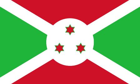 ธงชาติประเทศบุรุนดี Burundi