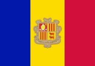 ธงชาติประเทศอันดอร์รา Andorra