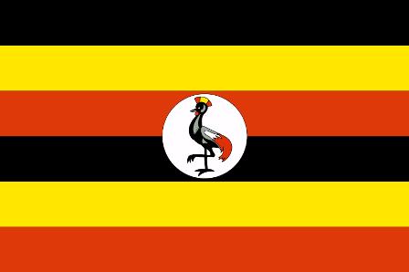 ธงชาติประเทศยูกันดา Uganda