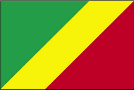 ธงชาติประเทศสาธารณรัฐคองโก Republic of the Congo