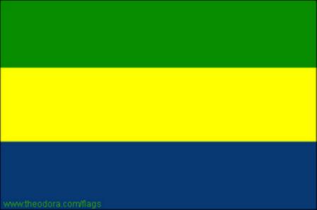 ธงชาติประเทศกาบอง Gabon
