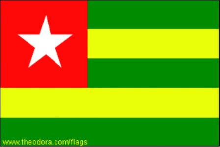 ธงชาติประเทศโตโก Togo
