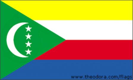 ธงชาติประเทศคอโมโรส  Comoros