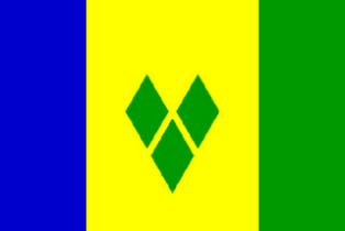 ธงชาติประเทศเซนต์วินเซนต์และเกรนาดีนส์ Saint Vincent and the Grenadines