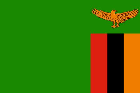 ธงชาติประเทศแซมเบีย Zambia