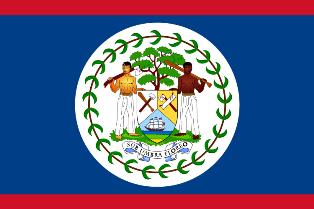 ธงชาติประเทศเบลีซ Belize
