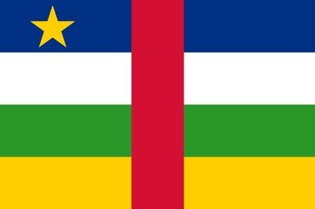 ธงชาติประเทศสาธารณรัฐแอฟริกากลาง Central African Republic
