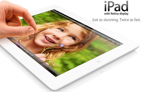 iPad 4 (ไอแพด 4) เปิดตัวแล้ว เปลี่ยนชิปเป็น Apple A6X