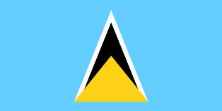 ธงชาติประเทศเซนต์ลูเซีย Saint Lucia